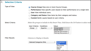 Smart View Selection Criteria