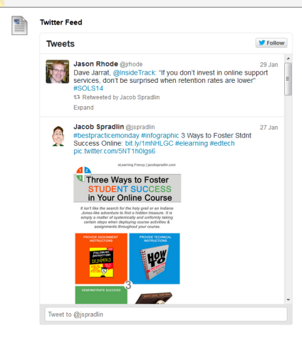 Embedded Twitter Feed