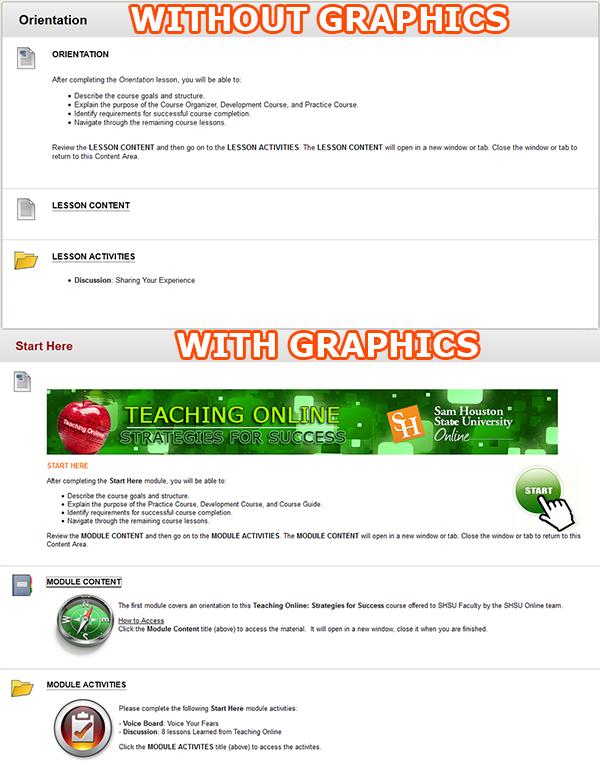 Blackboard Course Content Area Examples