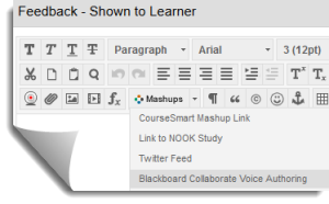 Audio Feedback with Blackboard Collaborate Voice Authoring