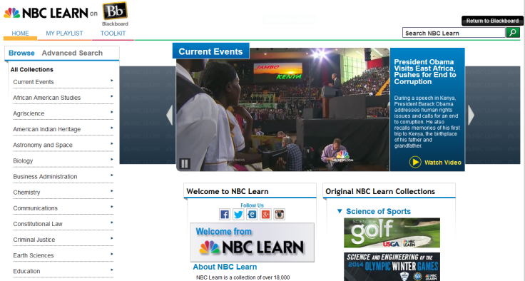 NBC Learn Portal