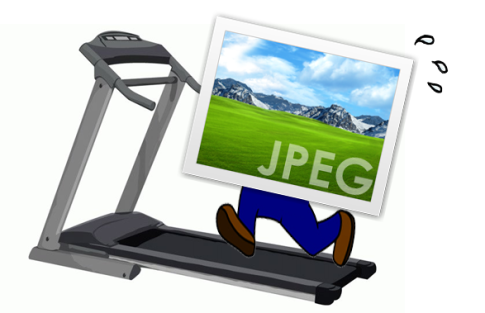 Picture of a Graphic Icon on Treadmill