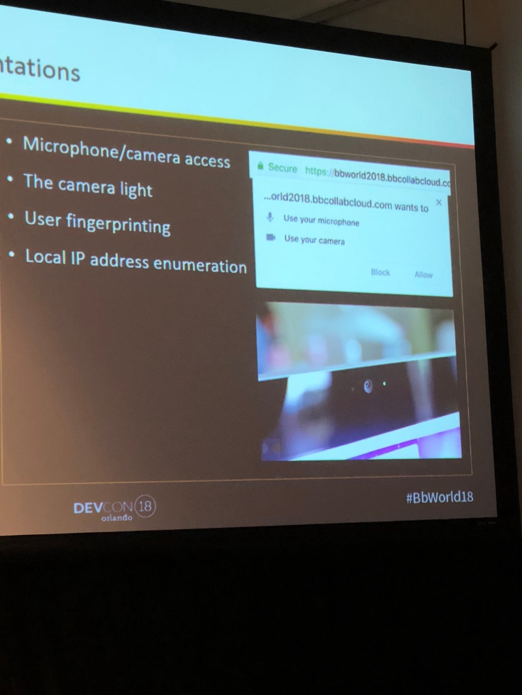 BbWorld18 Devcon Session Post: Collaborate Ultra: WebRTC and our MCU