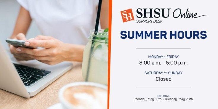 Support Desk Summer Interim Hours